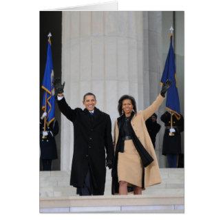 Cartão Presidente & Sra. Obama