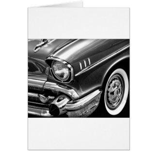 Cartão Preto 1957 & branco do Bel Air de Chevrolet