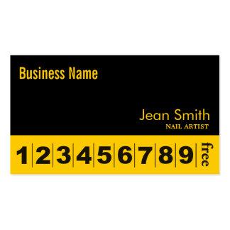 Cartão preto & amarelo liso da lealdade do negócio cartão de visita
