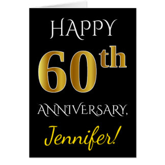 Cartão Preto, aniversário de casamento do ouro 60th do