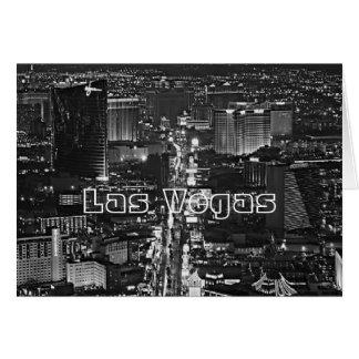Cartão preto & branco de Las Vegas