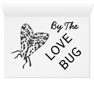 Cartão preto & branco do inseto do amor