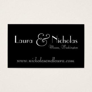 Cartão preto & branco do monograma do rolo do