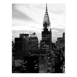Cartão preto & branco do vertical de New York