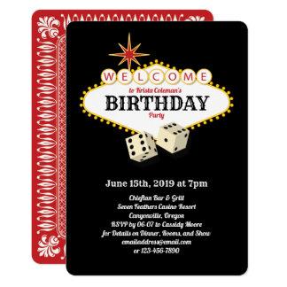 Cartão Preto da festa de aniversário do famoso de Las