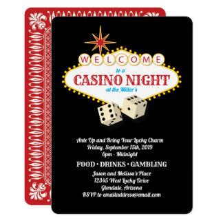 Cartão Preto da noite do casino do famoso de Las Vegas