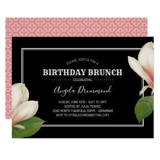 Cartão Preto da refeição matinal do aniversário da