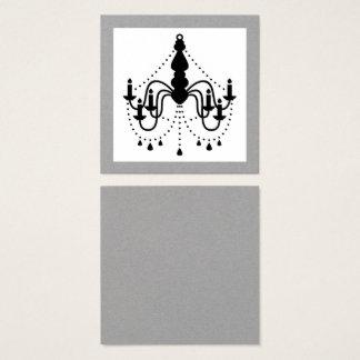 Cartão preto da visita do candelabro dos