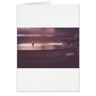 Cartão Preto do equipamento do vinil do registro da