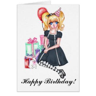 Cartão (preto) do feliz aniversario