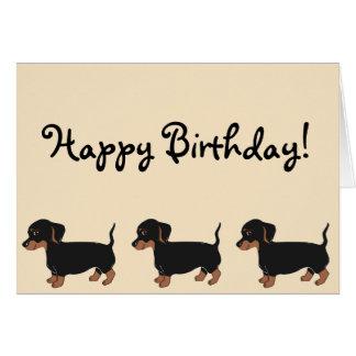 Cartão preto do feliz aniversario do creme dos