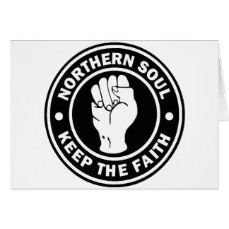 Cartão preto do norte do logotipo da alma