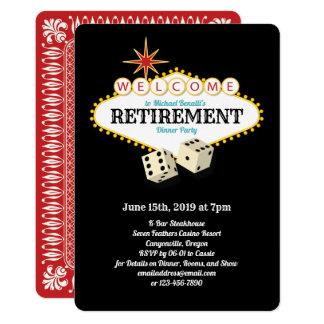 Cartão Preto do partido de aposentadoria do famoso de Las
