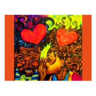 Cartão preto do poster do amor