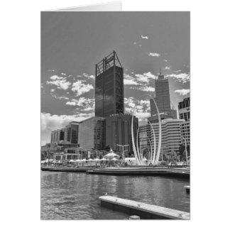 Cartão preto e branco da arquitectura da cidade