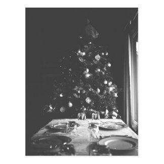 Cartão preto e branco do Natal