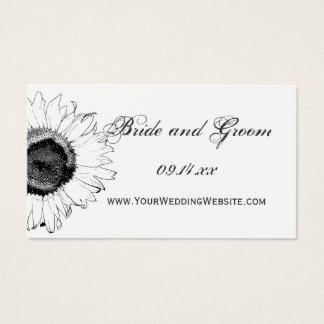 Cartão preto e branco do Web site do casamento do