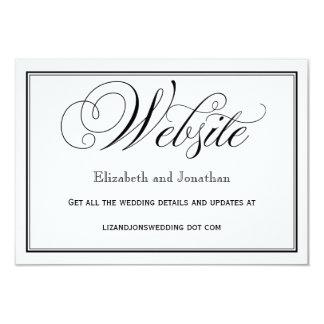 Cartão Cartão preto e branco do Web site do casamento do
