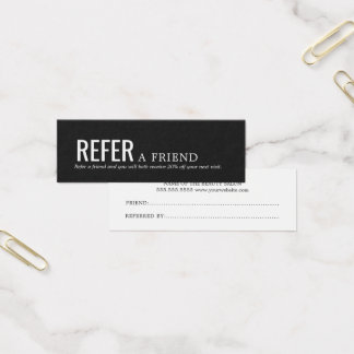 Cartão preto e branco elegante simples da