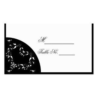 Cartão preto e branco moderno do lugar do coração cartão de visita
