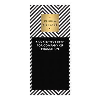 Cartão preto e branco retro da cremalheira do