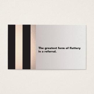 Cartão preto e cor-de-rosa moderno da referência