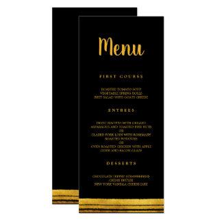 Cartão Preto e menu do curso da escova do ouro