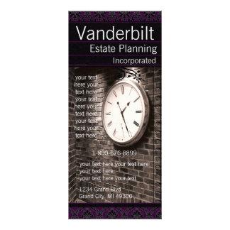 Cartão preto e roxo da cremalheira do damasco panfletos informativos