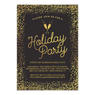 Cartão Preto & festa natalícia incorporada do ouro