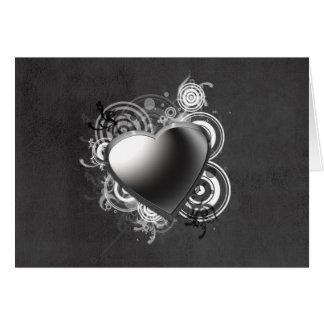 Cartão preto gótico do coração