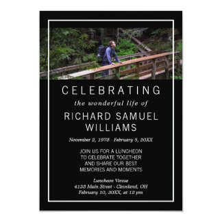 Cartão Preto minimalista - foto - celebração da vida