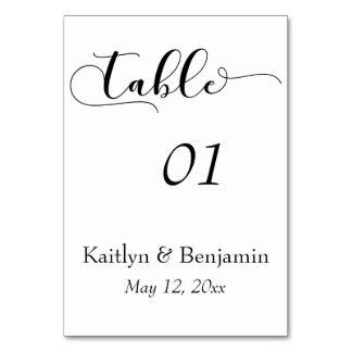 Cartão Preto no número branco da mesa da tipografia do