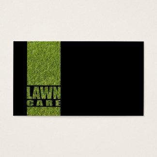 Cartão preto simples da grama do cuidado do