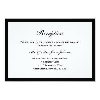 Cartão preto simples da recepção de casamento da