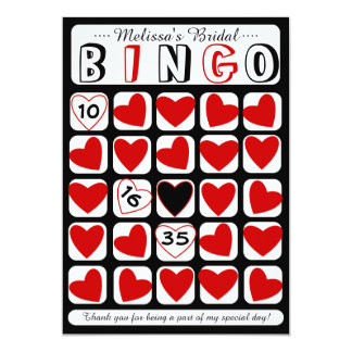 Cartão preto vermelho do jogo nupcial customizável convites personalizados