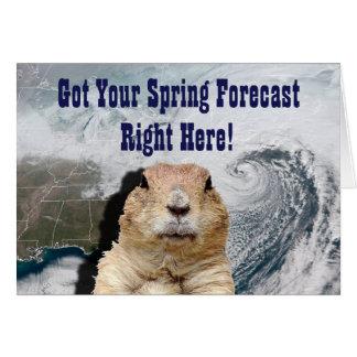 Cartão Previsão do primavera de Groundhog