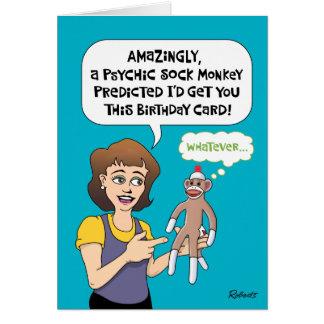 Cartão Previsões engraçadas do aniversário