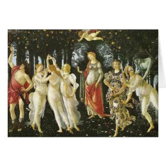 Cartão Primavera, belas artes de Sandro Botticelli