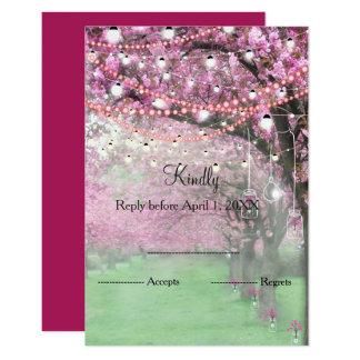 Cartão Primavera da flor de cerejeira que wedding RSVP