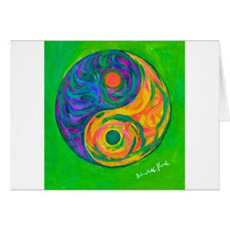 Cartão Primavera de Yin Yang