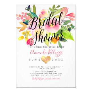 Cartão Primavera do chá de panela de PixDezines floral