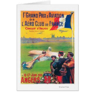Cartão Primeira aviação Prix grande