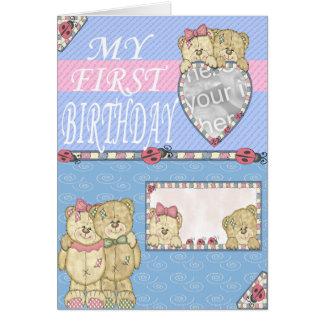 Cartão Primeira festa de aniversário