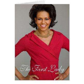 Cartão Primeira senhora Michelle Obama