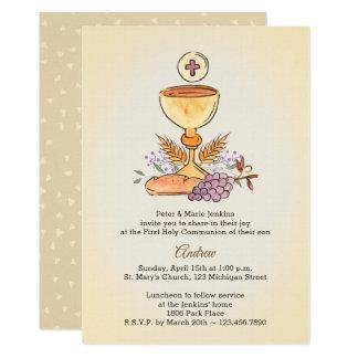 Cartão Primeiro cálice do comunhão