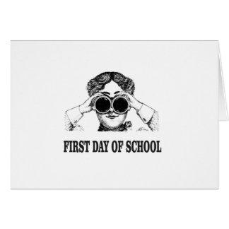Cartão primeiro dia da escola