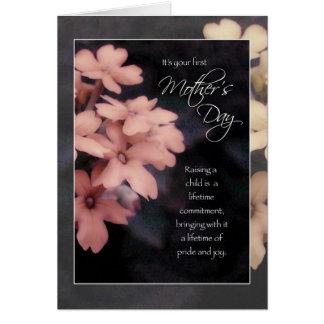 Cartão Primeiro dia das mães, flores do Phlox do jardim