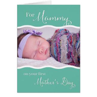 Cartão Primeiro dia das mães para mamães - foto feita sob
