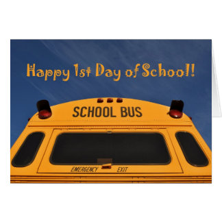 Cartão Primeiro dia feliz do auto escolar