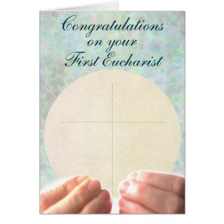 Cartão Primeiro Eucaristia